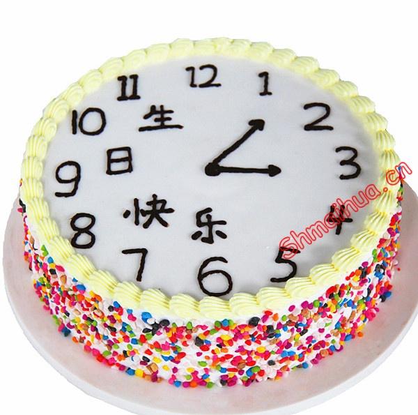 """时钟生日蛋糕"""""""